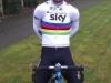 Mark Cavendish con la maglia iridata